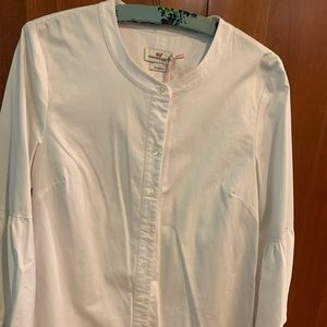 Vineyard Vines Stretch Bell Sleeve Button Down